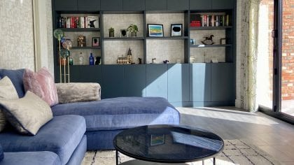 Fitted storage wall