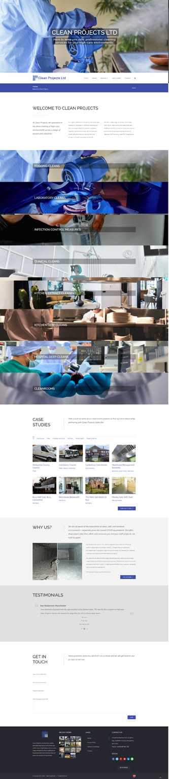 PORTFOLIO: Clean Projects - Homepage